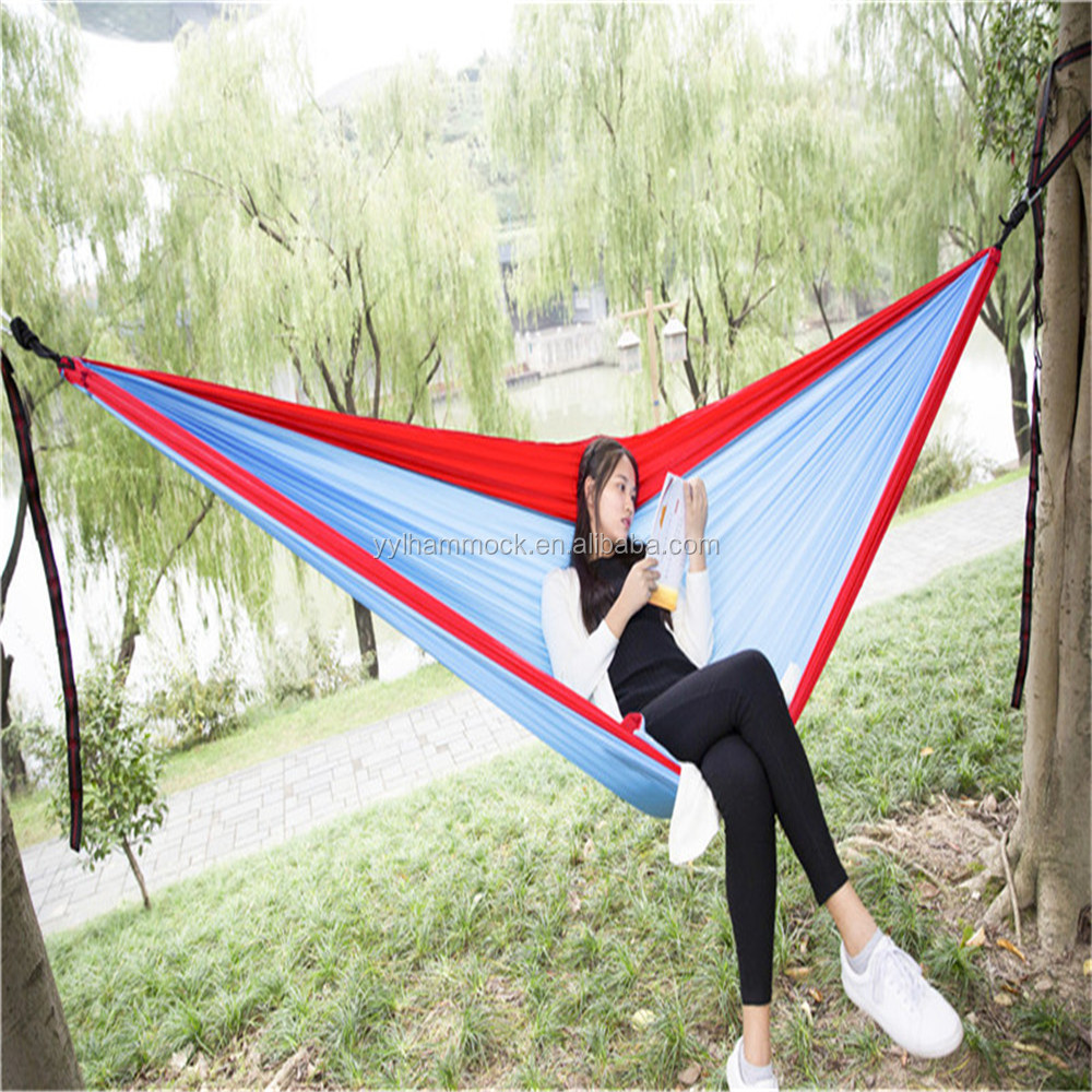Factory New Fashion Parachute Nylon Camping Hammock Double