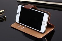 Luxury PU Leather Wallet Case For Apple iPhone 6 6S 4.7 inch Card Slots Cover