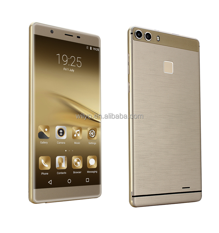Ultra Slim 5.5 inch screen MT6572 3g Wholesale Mobile Phone Gold Oem Mobile Factory