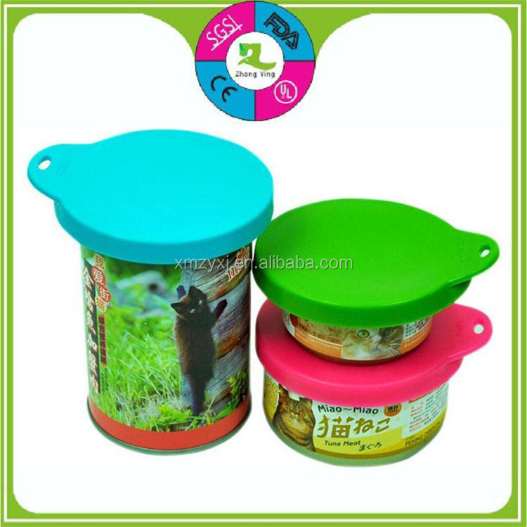 New design LFGB silicone 3 in 1 pet food seal can lid