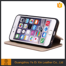 Luxury custom leather wallet mobile phone cover case for iphone 6 6s 7 plus
