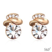 Stone jewelry 2015 gold earring models for women
