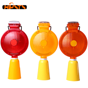 High intensity solar led safety beacon amber warning light