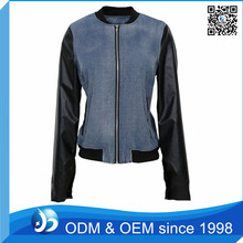 Design Women Jacket, Denim Jacket Leather Sleeves