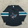 100% polyester fabric custom The SAN jose sharks team ice hockey jersey for fans