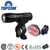 Ourdoor 3 Modes Super Bright LED Front Bicycle Light Set & 9 LED Tail Bike light