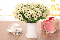 2015 single cheap artificial wholesale silk gerbera daisies flowers