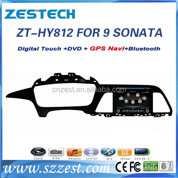 Hot selling 8 inch in-dash Win CE 6.0 OS car dvd gps for Hyundai Sonata 2015 car multimedia system car musc system with 3G wifi