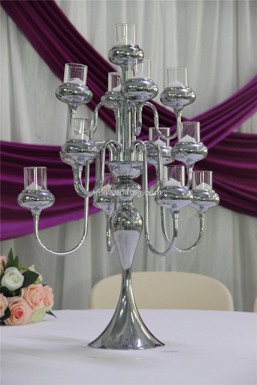 Plated cheap candelabra centerpieces wedding