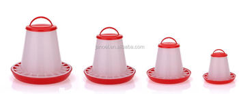 new plastic poultry feeder chicken feeder red with clear
