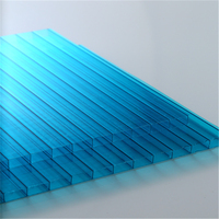 Polycarbonate Twin Wall Hollow Sheets Cheap Price Roofing Panels Clear