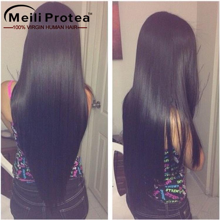 8a grau natural virgem cabelo brasileiro, negro cor suave e sedosa extensões de cabelo humano de remy do brasileiro em moçambique