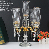 cheap wholesale wedding crystal 5 arms gold table candelabra centerpiece