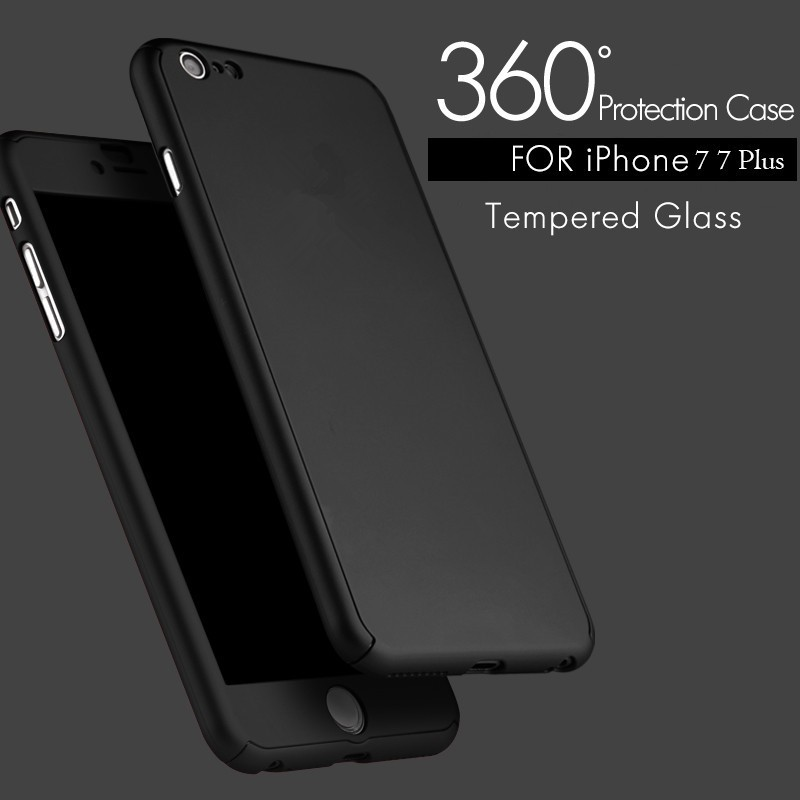 2017 Luxury 360 Degree Full Body Screen Protector Cover Case For iPhone 7 6 6s Plus For Samsung Galaxy S6 S7 Front Glass Film