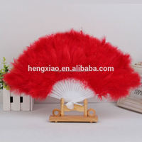 Wholesale Dance cheap feather fan Party supplies