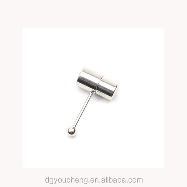 stainless steel vibrating tongue ring body jewelry