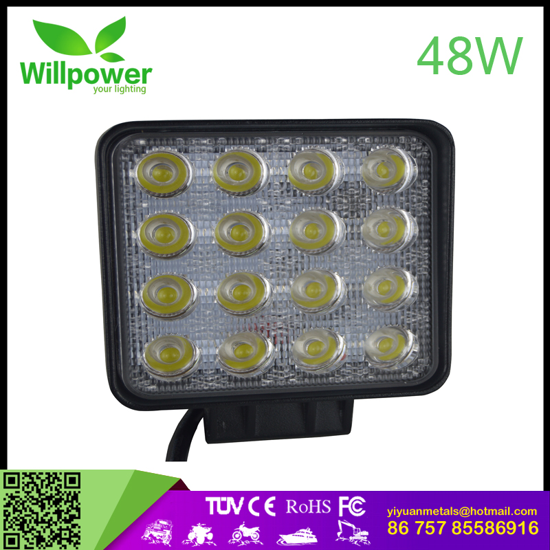 "Willpower super bright CE ROHS 6"" 48w led work light magnetic led work light the led working light for Jeeps,trucks,ATV,UTV,etc"