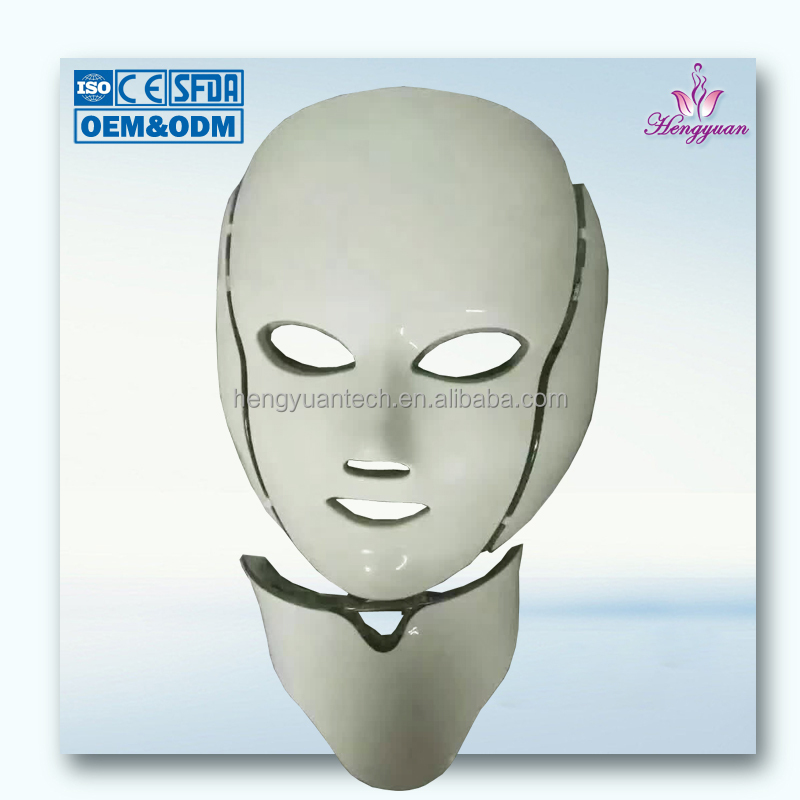 Skin rejuvenation ance and face treatment 7 colors led mask with neck