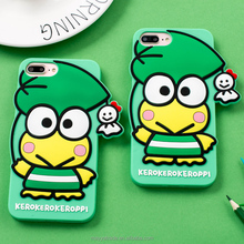 Cute Cartoon Frog Animal Shape Silicone Phone Cover Case for iPhone 7 6s