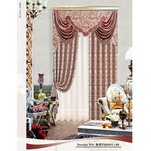 special design jacquard fabric window blackout curtain with fancy valance