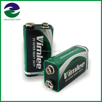 High capacity Super Heavy Duty Dry Battery / carbon zinc 9v batteries