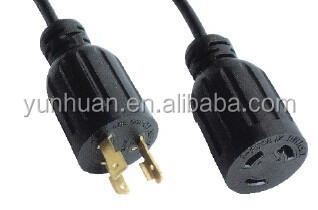 Locking extension cord Ul certified twist-lock plug connector 15A 20A 30A