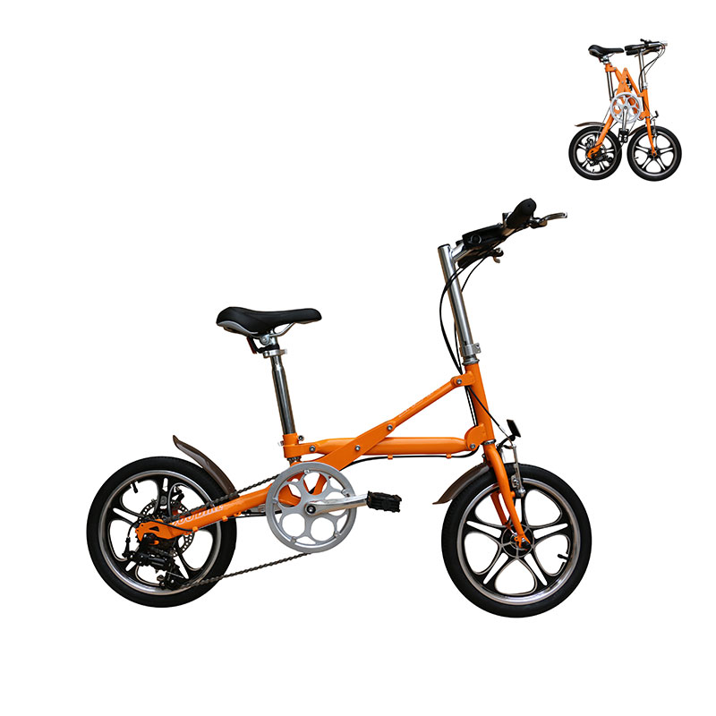 14 Inch steel frame 7 speed small wheel folding <strong>bicycle</strong> for adult