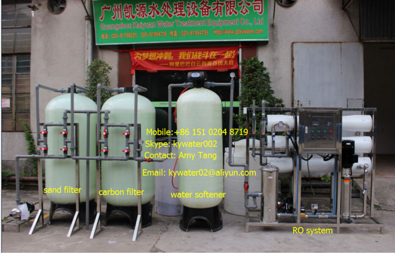 CE, ISO 9001: 2008 KYRO-3000LPH RO pure drinking water filter machine