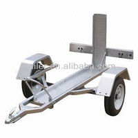 Hot Dipping Galvanized Single Motorcycle Trailer