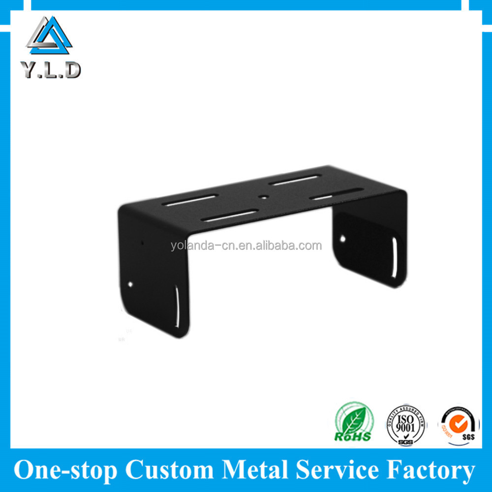 Good Peice Customized Black Power Coating U- Steel Stamping And Bending Parts For U-Bracket