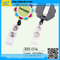 designer lanyard id badge retractable pull reel badge holder