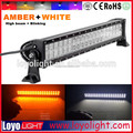 Amber White color flash led light bar 20inch offroad truck 4x4 120W led light bar orange
