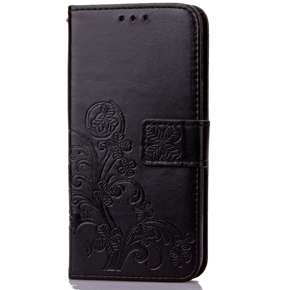 Wallet Cover Lucky Clover Leather Case for Samsung Galaxy S3 S4 S5 Mini S6 S7 Edge Note3 4 5 G530 G360 A310 A510 J1 J3 J120 J510