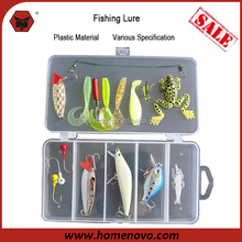 Manufacturer Cheap OEM Best Quality Various Specification 16pcs Artificial Soft Plastic Frog Bait Minnow Fishing Lure