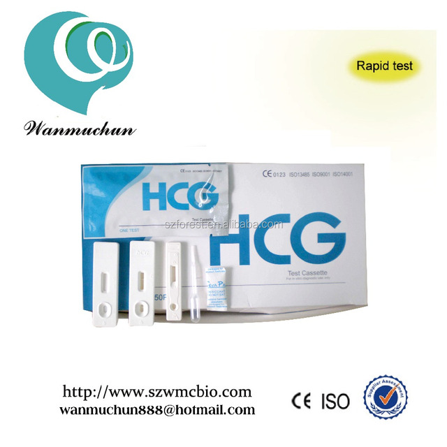 One step rapid Medical Early Pregnancy Test Cassette for hcg test at home