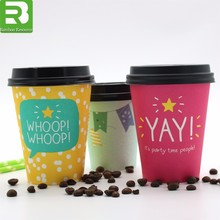 Take away coffee cups logo printed disposable paper coffee cups with lids,Paper cup,coffee paper cup