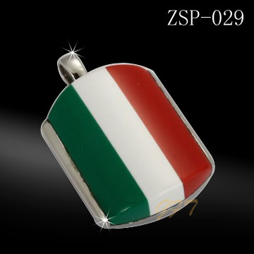 Hot sale fashion men stainless steel italian flag jewelry