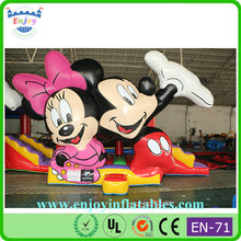kids party rent inflatable mickey mouse jumper, bouncy castle minnie mouse, attraction combo inflatable bouncer