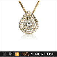 new products pear-shaped saudi gold pendant