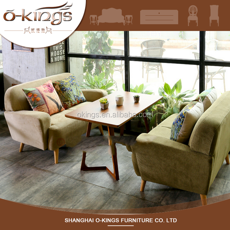 Hotel dining table and sofa chairs set for restaurant use