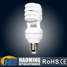 Good color rendering hotel half spiral cfl energy saver lamp