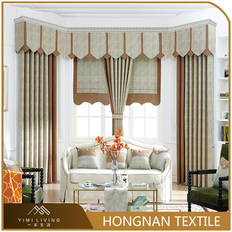 Hot sale new design fancy jacquard sunshade curtains and drapes