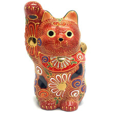 Hot Sale Personalized Handmade Color Glazed Ceramic Japanese Lucky Cat Figurine