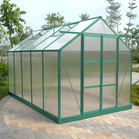 Sturdy greenhouse with PC wall and aluminium profile