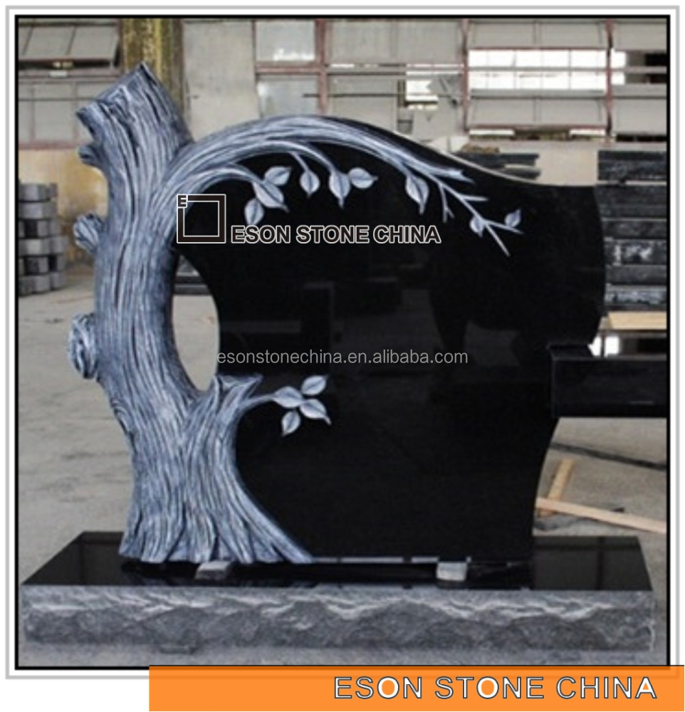 Eson Stone indian black granite american style tree shape monument tombstone