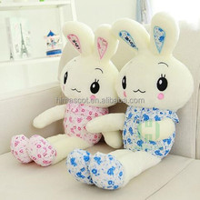 HI CE rabbit plush toy with LED light for Valentine day gift,stuffed plush toy for kids for birthday party