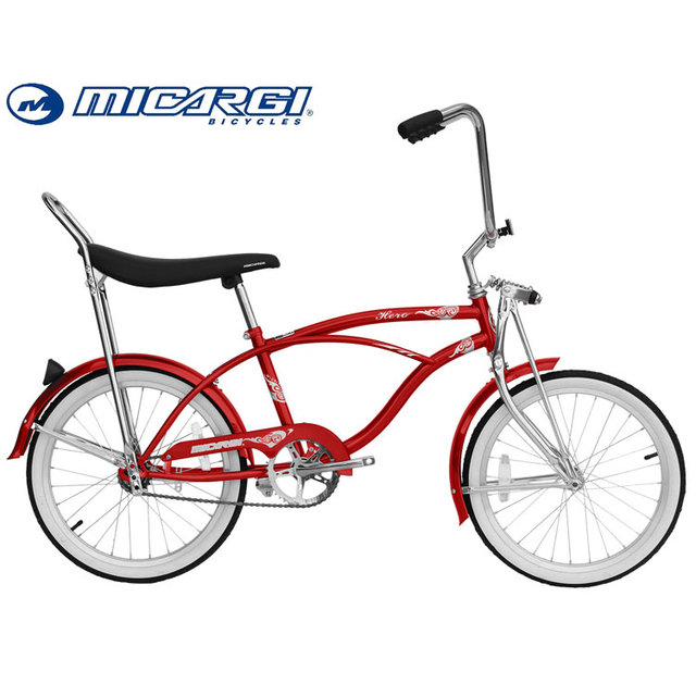 Micargi 20 inch Lowrider Bicycle HERO single speed Beach Cruiser Bike