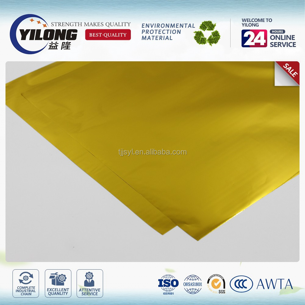 Durable non-toxic printed metalized pet film high adhesion strength