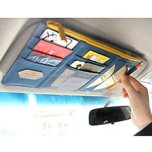 Multi-function Car Visor Organizer Pouch, Card Storage Holder Sun Shade Pouch Bag CD Storage for Auto Vehicle Truck