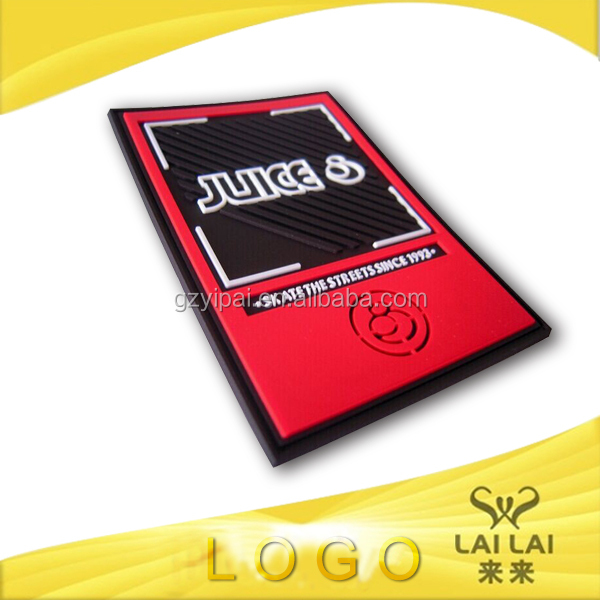 Custom made soft rubber cheap security badges for clothes